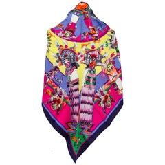 New in the Box Hermès Silk Pointe Kachinas Shawl