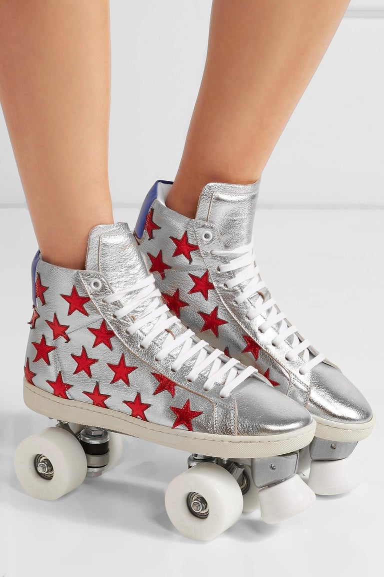 New Incredibly Rare Limited Edition Saint Laurent Celebrity Roller Skates Sz 37 In New Condition For Sale In Leesburg, VA