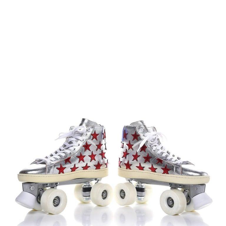 New Incredibly Rare Limited Edition Saint Laurent Celebrity Roller Skates Sz 40 For Sale 6