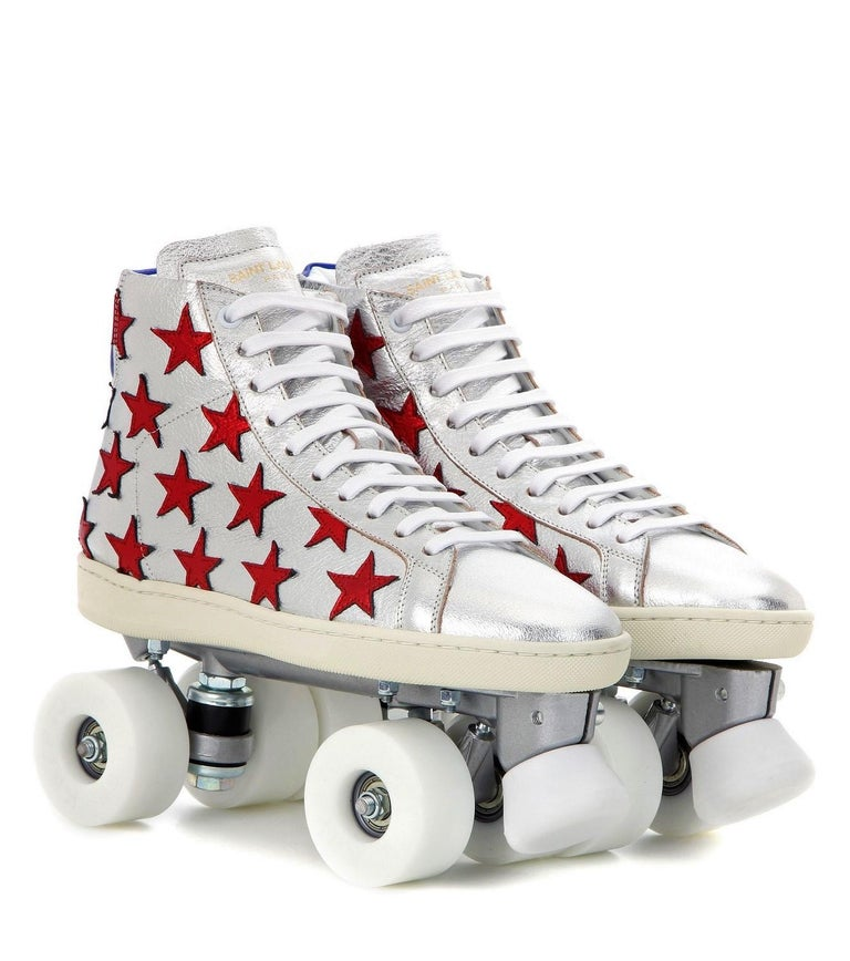 New Incredibly Rare Limited Edition Saint Laurent Celebrity Roller Skates Sz 40 For Sale 8