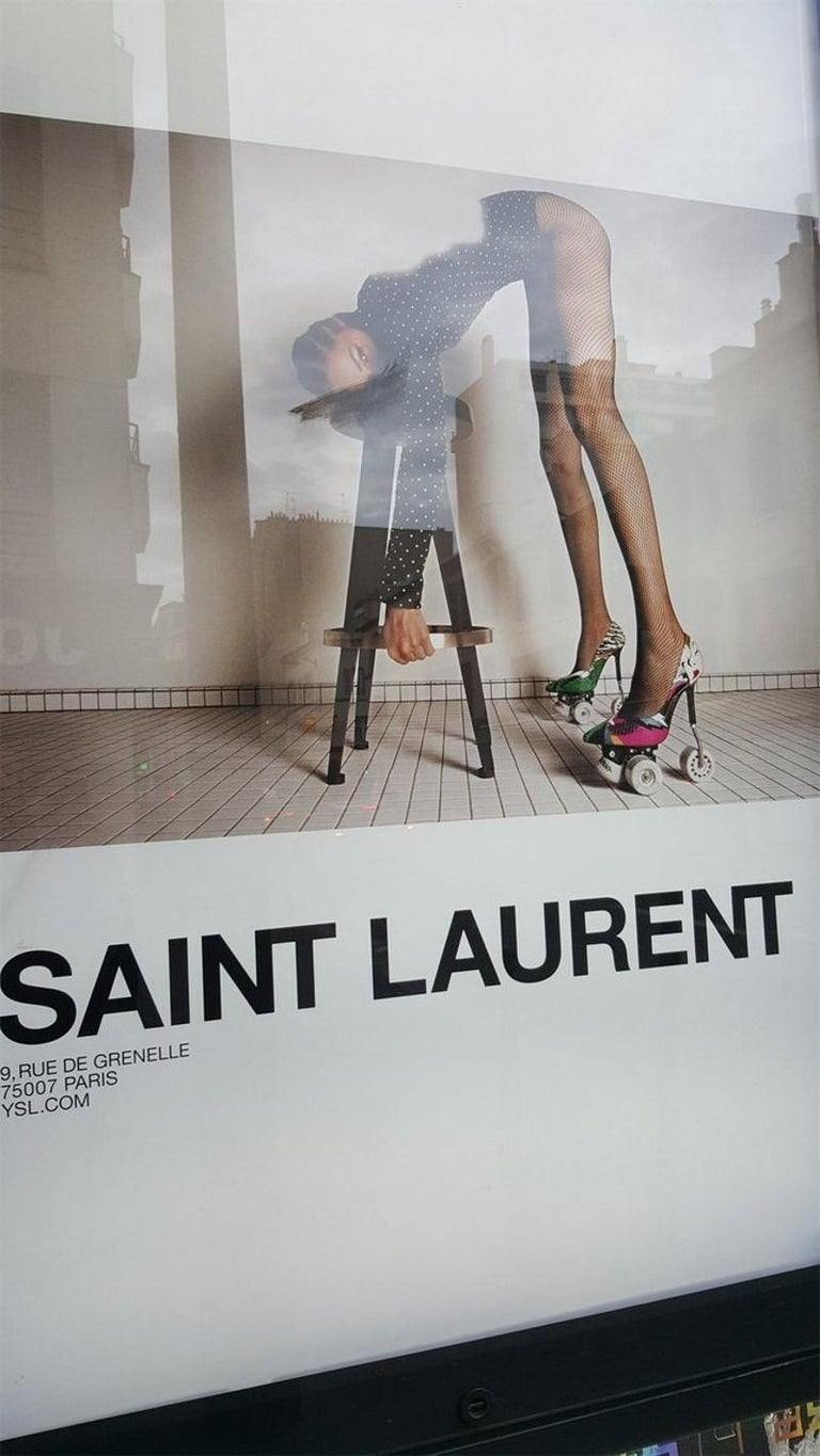 Women's New Incredibly Rare Limited Edition Saint Laurent Celebrity Roller Skates Sz 40 For Sale