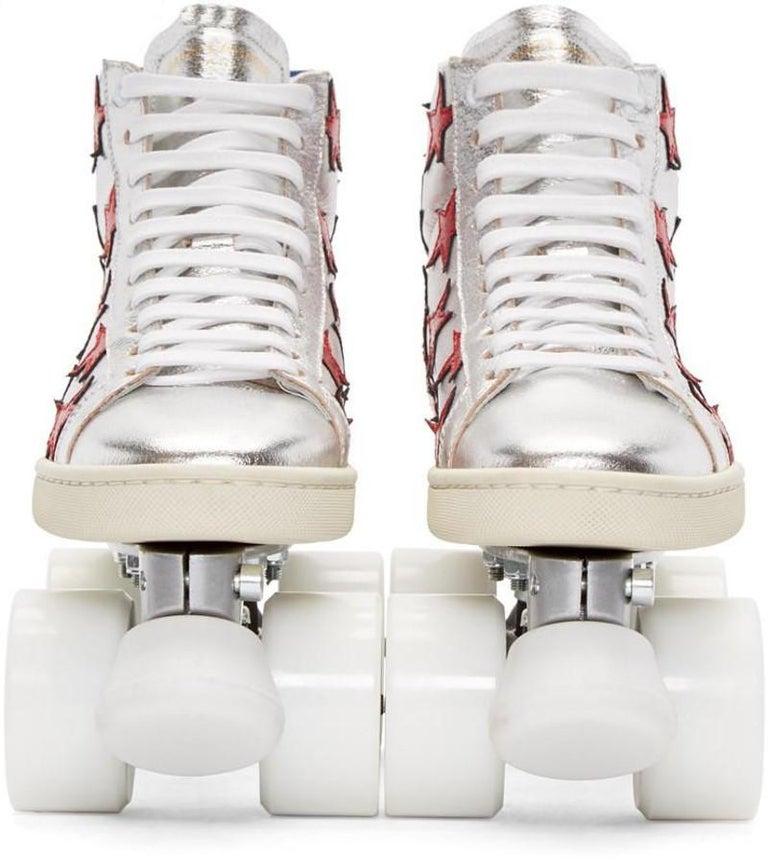 New Incredibly Rare Limited Edition Saint Laurent Celebrity Roller Skates Sz 40 For Sale 4