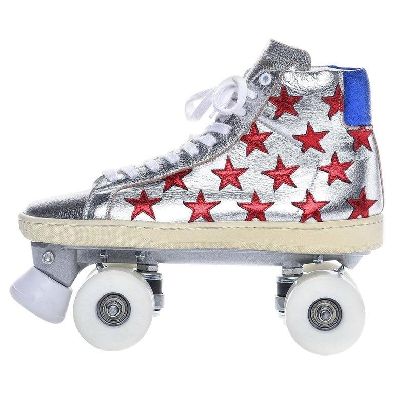 New Incredibly Rare Limited Edition Saint Laurent Celebrity Roller Skates Sz 40 For Sale