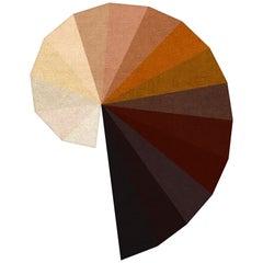 """New """"Infinity"""" in """"Earthtones"""" by Rhyme Studio Beige to Brown Rug or Tapestry"""