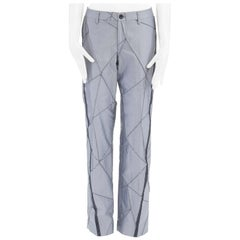 new ISSEY MIYAKE grey compressed geometric lines straight leg pants JP2 30""