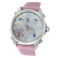 New Jacob & Co. Five 5 Time Zone Steel Diamond Watch