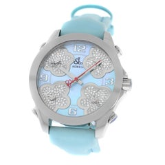 New Jacob & Co. Five Time Zone Mother of Pearl Diamond Watch