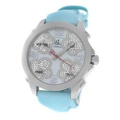 New Jacob & Co. Five Time Zone Steel Diamond Watch