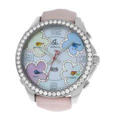 New Jacob & Co. Five Time Zones 3.25 Carat Diamond Bezel Mother of Pearl Watch