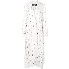 New Jacquemus 'La Djellaba' Dotted Shirtdress FR38 US 4-6