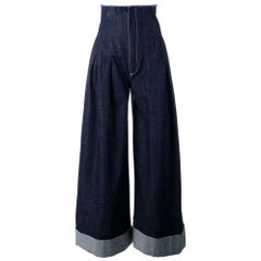 New Jacquemus 'Le Pantalon' De Nimes Denim Trousers FR36 US 2-4