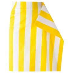 New Jacquemus Side Flat Striped Skirt FR34 US 0-2