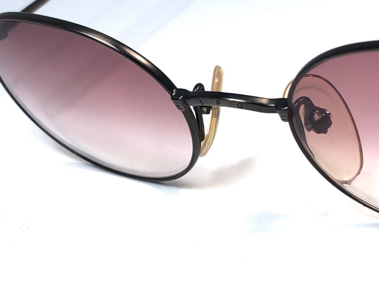New Jean Paul Gaultier 55 1175 Dark Copper Sunglasses 1990's Japan  In New Condition For Sale In Amsterdam, Noord Holland