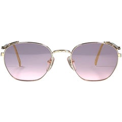 New Jean Paul Gaultier 55 3173 Gold Sunglasses 1990's Japan