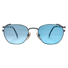 New Jean Paul Gaultier 55 3173 Green Metallic Sunglasses 1990's Japan