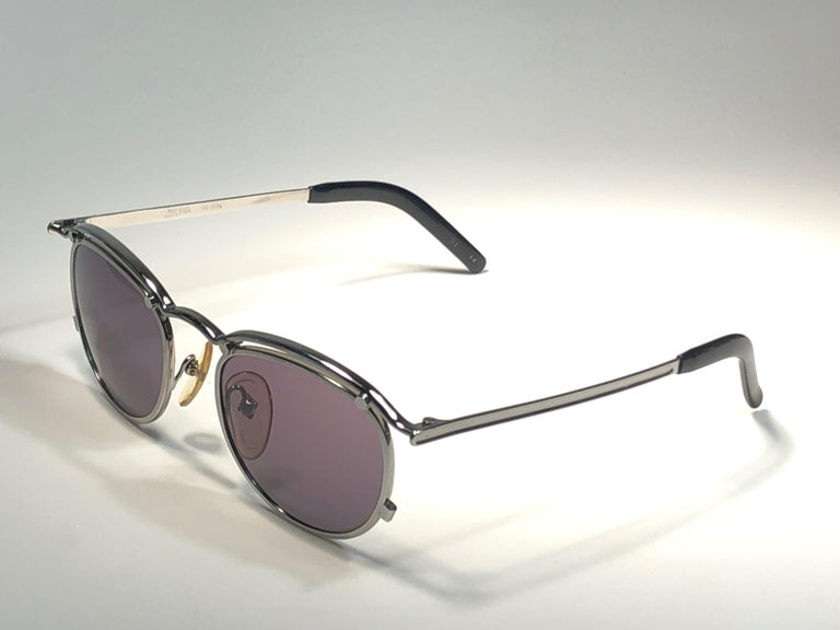 New Jean Paul Gaultier 56 1174 Round Gold Matte Frame 1990's Sunglasses Japan   For Sale 2