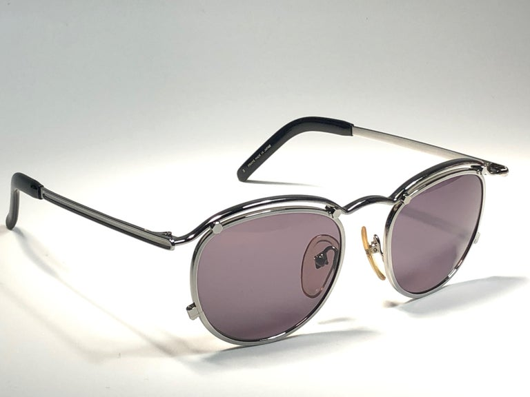 New Jean Paul Gaultier 56 1174 Round Gold Matte Frame 1990's Sunglasses Japan   For Sale 3