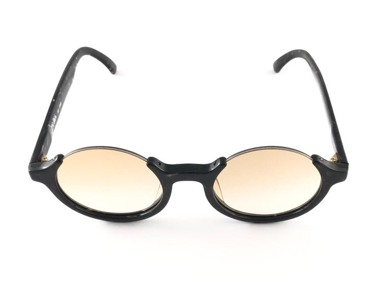 New Jean Paul Gaultier 56 7061 Round Marbled Flat Lenses 1990's JPG Sunglasses For Sale 1