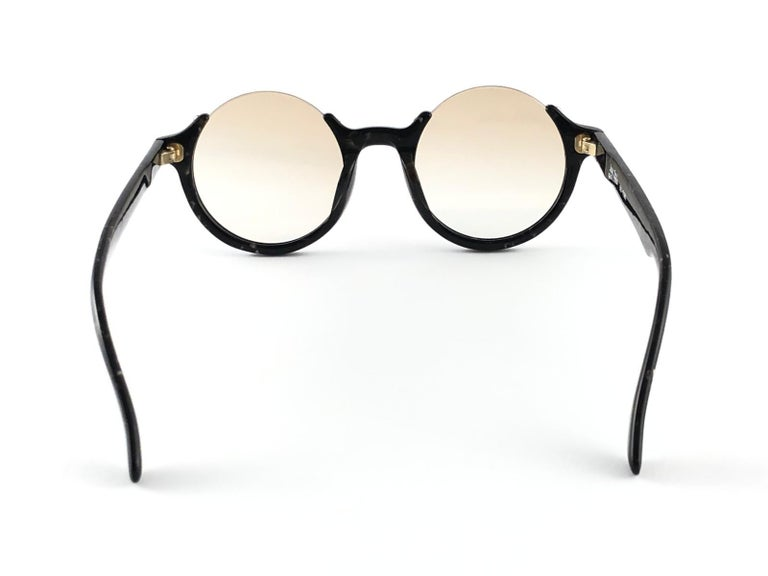 New Jean Paul Gaultier 56 7061 Round Marbled Flat Lenses 1990's JPG Sunglasses For Sale 2