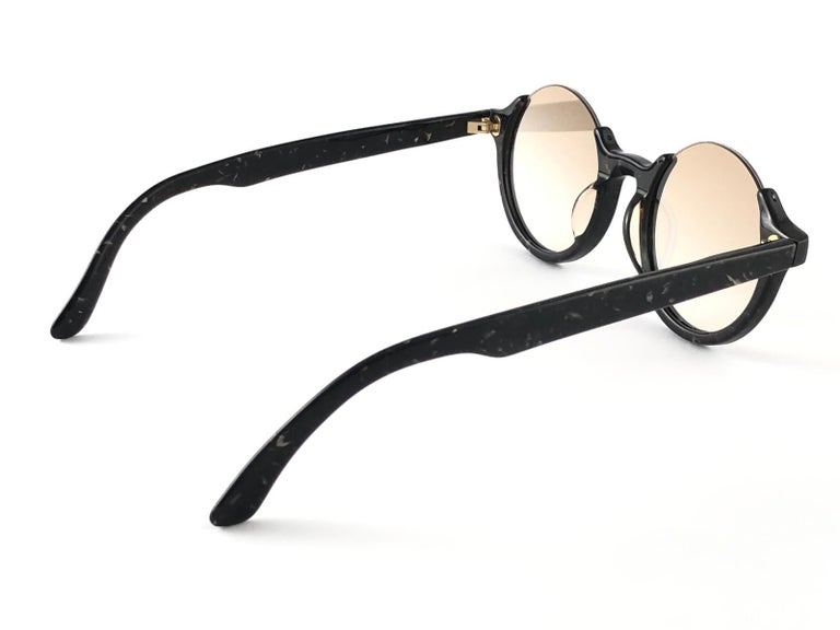 New Jean Paul Gaultier 56 7061 Round Marbled Flat Lenses 1990's JPG Sunglasses For Sale 3