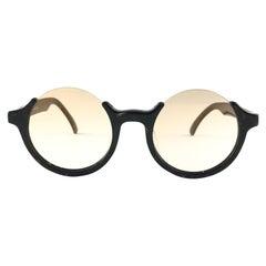 New Jean Paul Gaultier 56 7061 Round Marbled Flat Lenses 1990's JPG Sunglasses