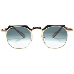 New Jean Paul Gaultier 57 0171 Oval Gold Sunglasses 1990's Made in Japan
