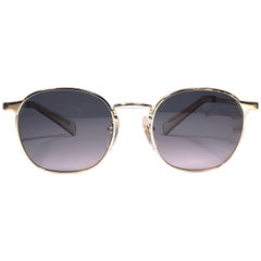 New Jean Paul Gaultier 57 0172 Oval Silver Sunglasses 1990's Made in Japan