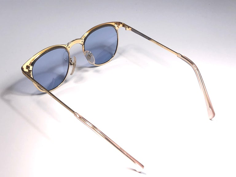 Women's or Men's New Jean Paul Gaultier 57 0174 Oval Gold Sunglasses 1990's Made in Japan  For Sale