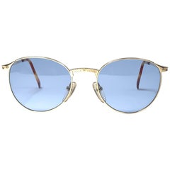 New Jean Paul Gaultier 57 3172 Gold Sunglasses 1990's Japan