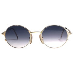 New Jean Paul Gaultier 572175 Oval Gold Sunglasses 1990's Made in Japan