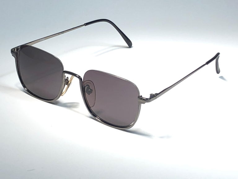 Women's or Men's New Jean Paul Gaultier Half Frame Grey Sunglasses 1990's Made in Japan  For Sale