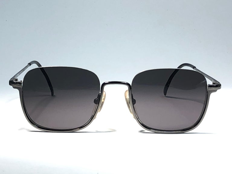 New Jean Paul Gaultier Half Frame Grey Sunglasses 1990's Made in Japan  For Sale 1