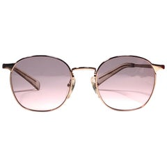 New Jean Paul Gaultier Junior 57 0172 Gold Sunglasses 1990 Made in Japan
