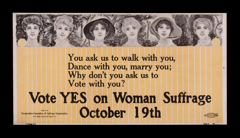 Suffragette trolley poster with exceptional
