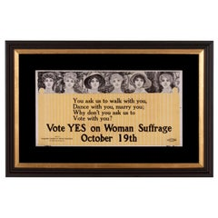 "New Jersey Suffragette Trolly Poster: ""Dance with You, Marry You, Vote with You"""