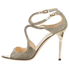 New Jimmy Choo Glitter  Heels Pumps Sz 39.5