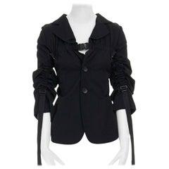 new JUNYA WATANABE SS03 Parachute black harness buckle strapped blazer jacket M