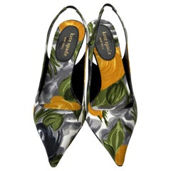 New Kate Spade Collectible Spring 2005 Rare Floral Heels Sz 6.5