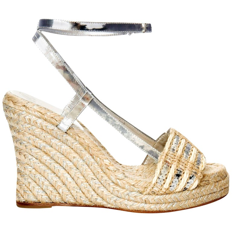 New Kate Spade Collectible Spring 2005 Wedge Heels Sz 9 For Sale