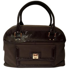 New Kate Spade Fall 2005 Large Brown Patent Satchel Bag