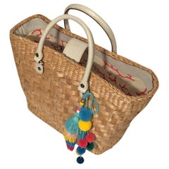 New Kate Spade Her Rare Spring 2005 Large Wicker Tote Bag