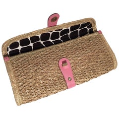 New Kate Spade Her Spring 2005 Collection Wicker Straw Rattan Clutch Bag
