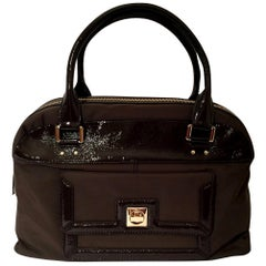 New Kate Spade Rare Collectible Fall 2005 Large Brown Patent Satchel Bag