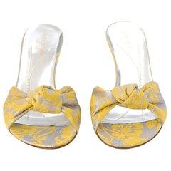 New Kate Spade Spring 2005 Brocade Mule Heels Sz 7