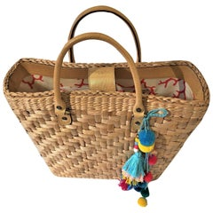 New Kate Spade Spring 2005 Large Wicker Straw Tote Bag
