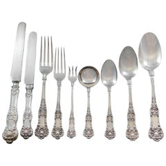 New King by Dominick & Haff Sterling Silver Flatware Set 12 Service 127 Pieces