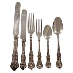 New King by Dominick & Haff Sterling Silver Flatware Set 12 Service 80 Pieces