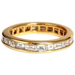 New Ladies Baguette Eternity Diamonds Band 14 Karat Gold 1.00 Carat