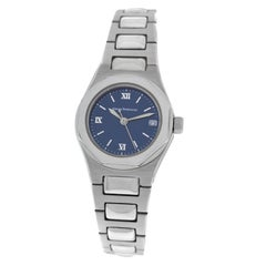 New Ladies Girard Perregaux Laureato Steel Quartz Watch Papers