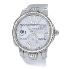 New Ladies Ulysse Nardin Executive Dual Time Diamond Watch